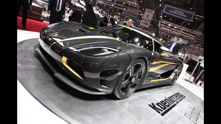 Koenigsegg Agera с отделкой сусальным золотом снова перепродают
