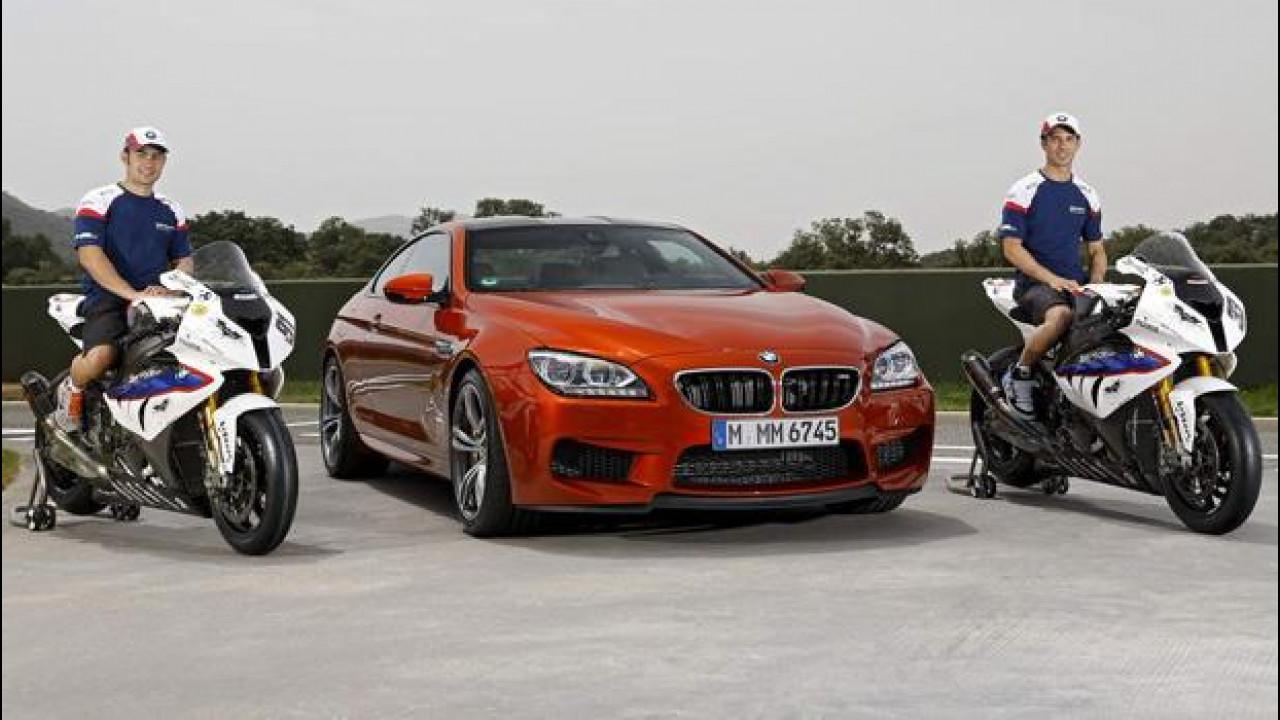 [Copertina] - Haslam e Melandri provano la BMW M6 Coupé