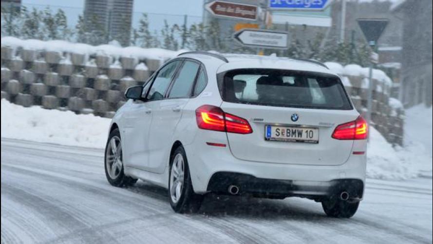 BMW Serie 2 Active Tourer, con la xDrive sulla neve