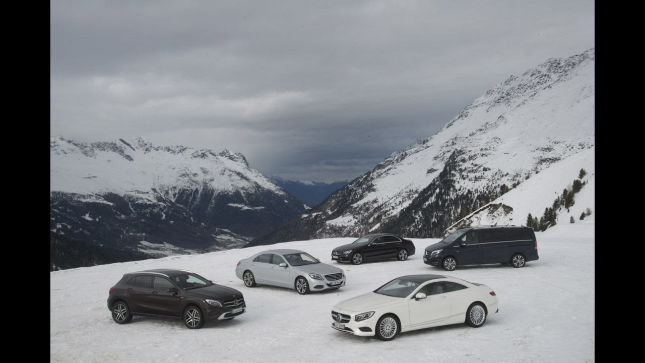 Mercedes Winter Workshop 4Matic, la gamma integrale sulla neve
