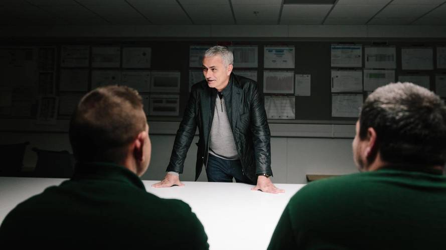 Jose Mourinho visits Jaguar F-Pace production line