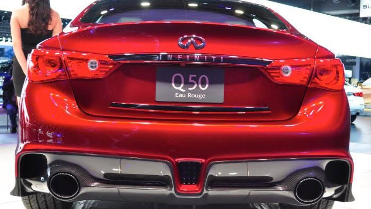 Infiniti Q50 Eau Rouge concept live at 2014 NAIAS