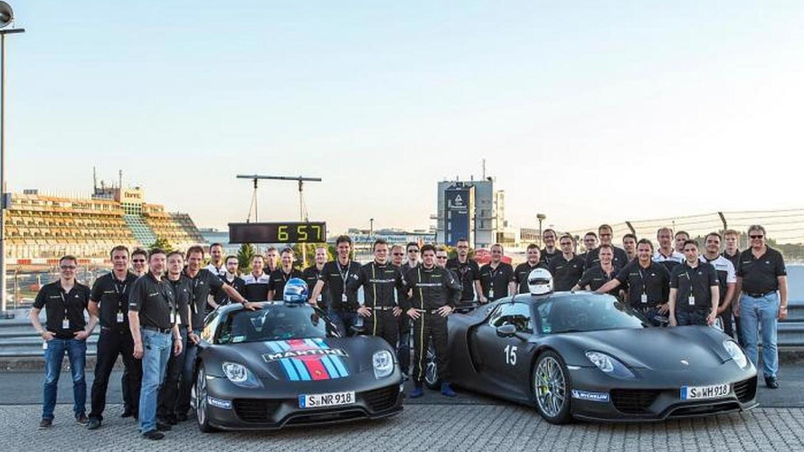 Porsche 918 Spyder rocks the Nurburgring in 6:57 - lap record [VIDEO]