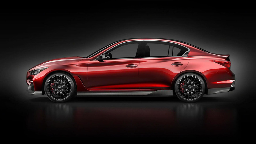 Infiniti shows Q50 Eau Rouge concept side profile