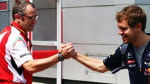 Stefano Domenicali with Sebastian Vettel 30.03.2014 Malaysian Grand Prix