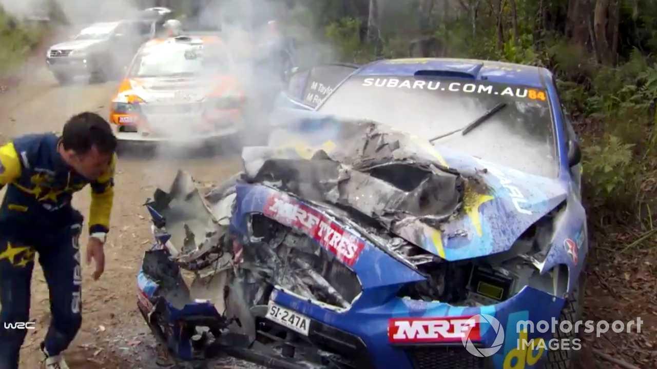 Molly Taylor brutal crash during Rally Australia 2018