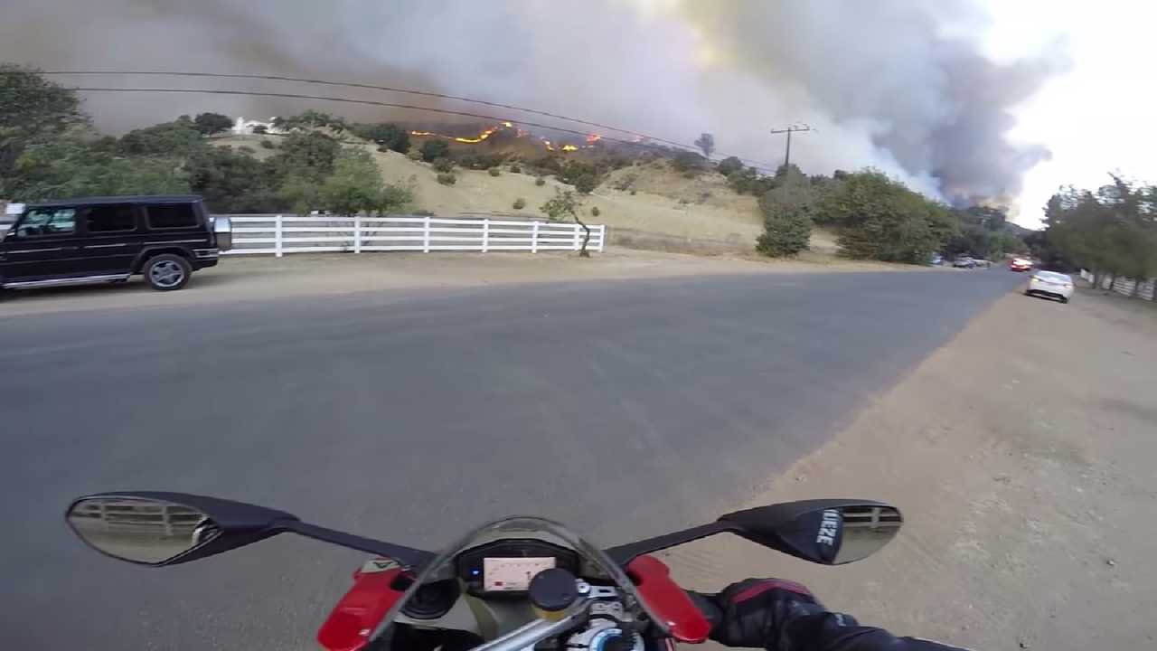 Rider Viewing California Wildfire