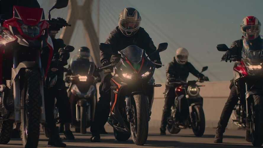 Honda Motorcycle Engines Are The Stars Of This Rooftop Symphony