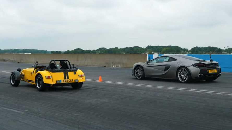 McLaren 570GT Faces Caterham 620R In Drag Race, Other Speed Trials