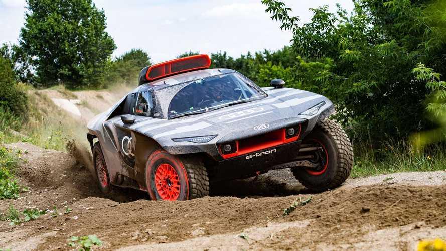 Audi представила электрический внедорожник для «Дакара». С ДВС