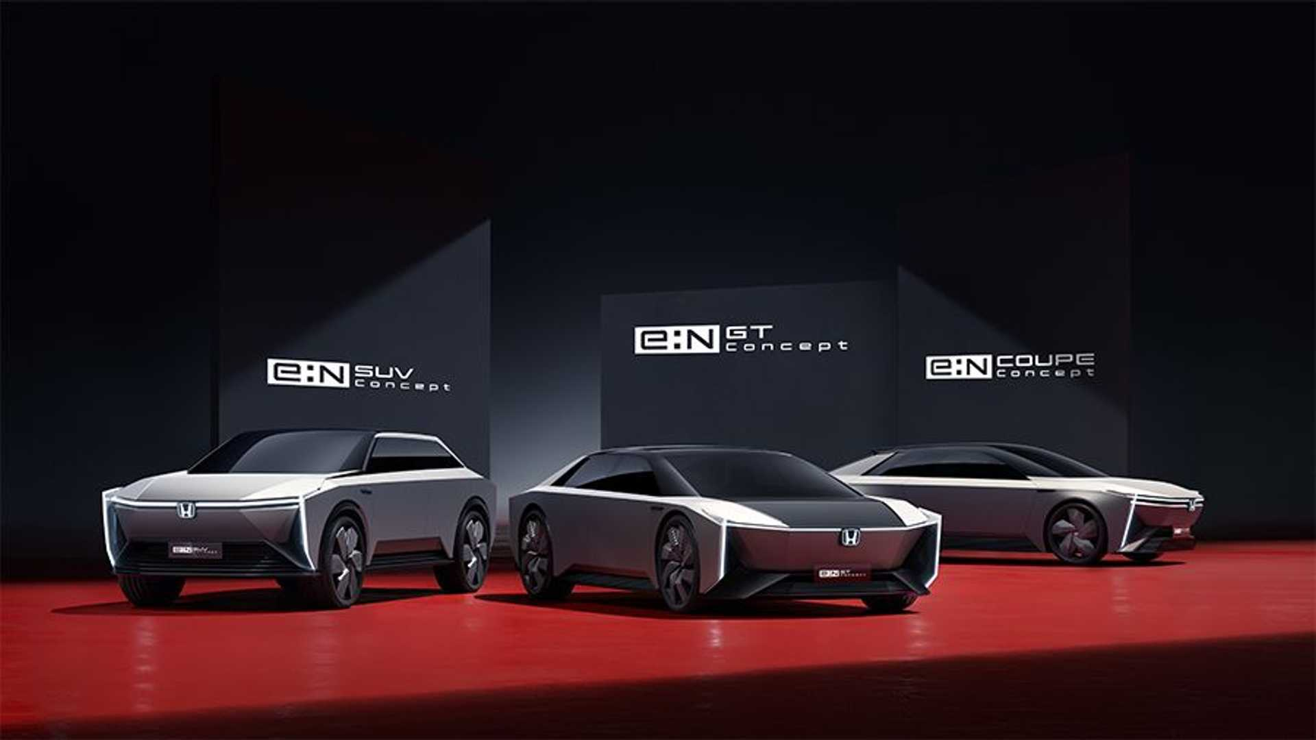 Honda e:N Series EV Concepts SUV, GT, And Coupe