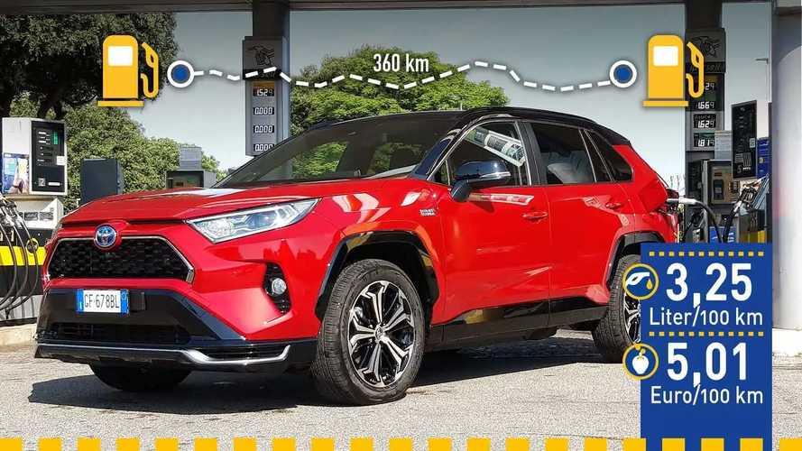 Tatsächlicher Verbrauch: Toyota RAV4 Plug-in Hybrid im Test