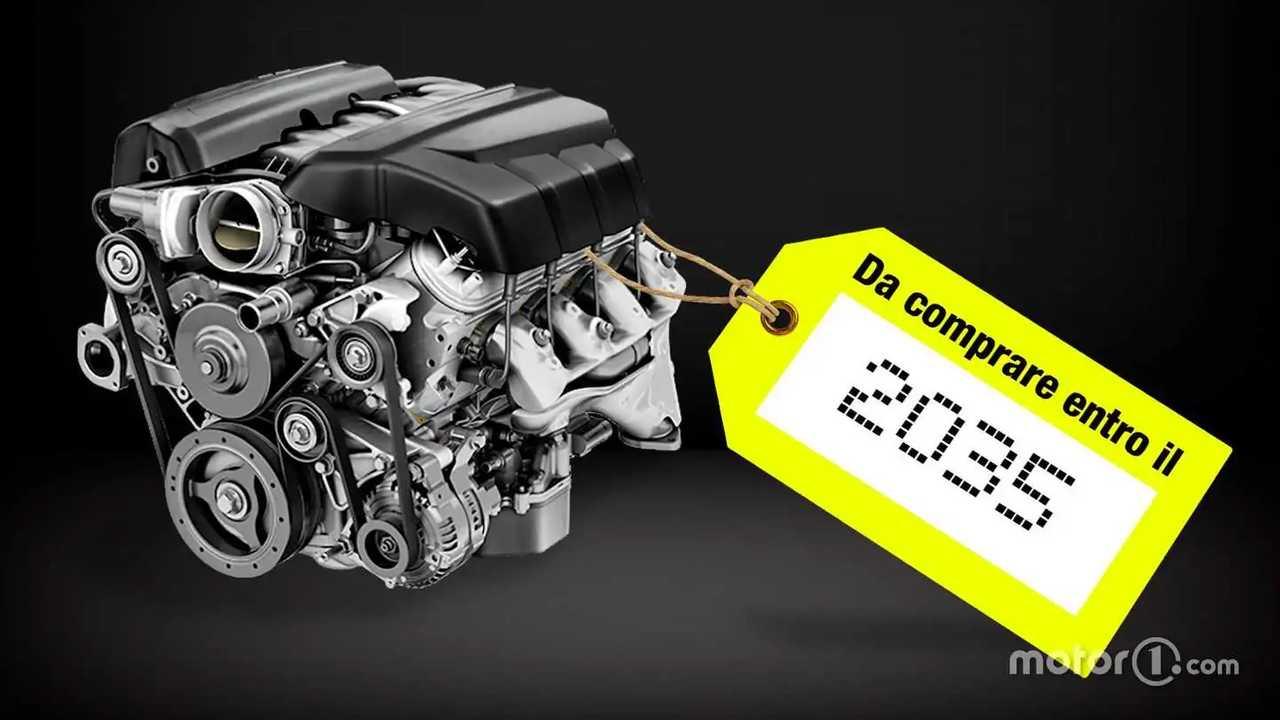 Motore a combustione con data di scadenza al 2035
