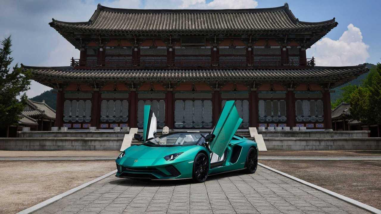 Lamborghini Aventador S Korean Special Series warna Green Ocno