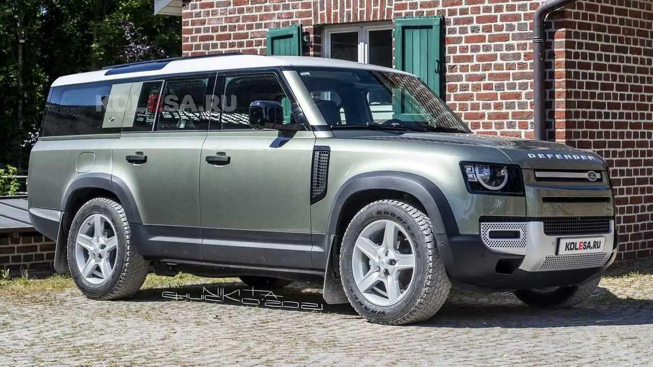 Land Rover Defender 130 rendering (front)