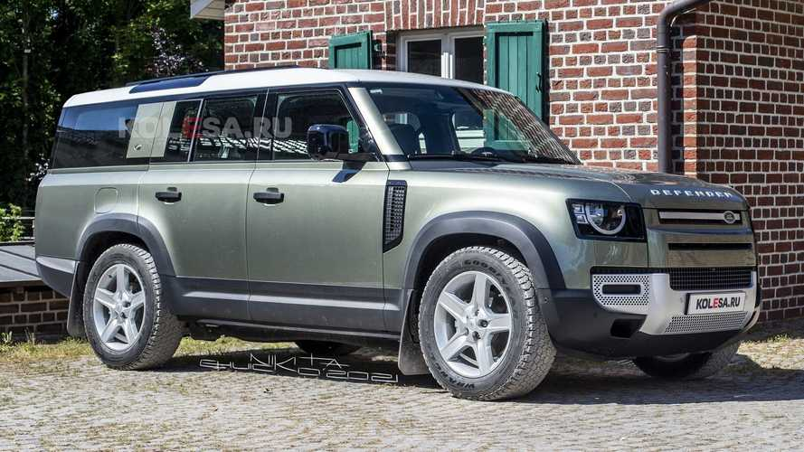 Land Rover Defender 130 rendered after the first spy photos