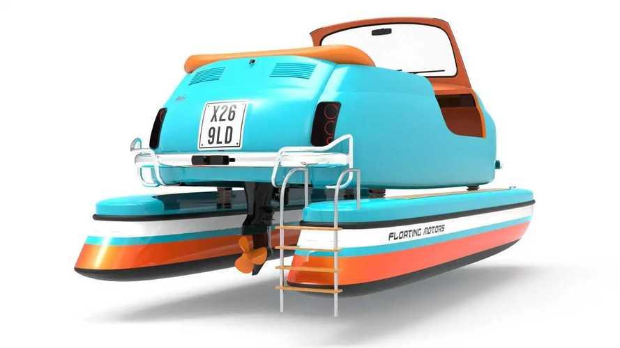 Le barche a forma di auto storiche di Floating Motors