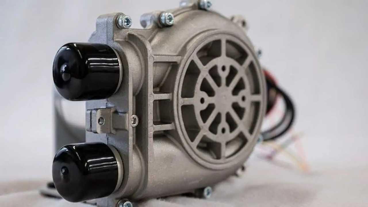 Un compressore che spinge l'aria all'interno delle fuel cell per la produzione di energia elettrica