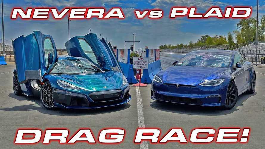 Duel de choc entre la Tesla Model S Plaid et la Rimac Nevera
