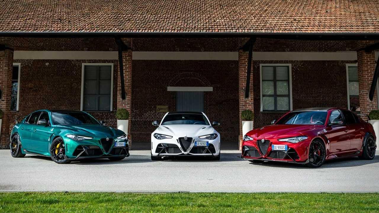 Le Alfa Romeo Giulia in versione tricolore