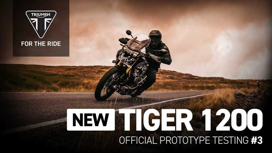 Triumph's Latest Teaser Takes The Tiger 1200 To The Tarmac