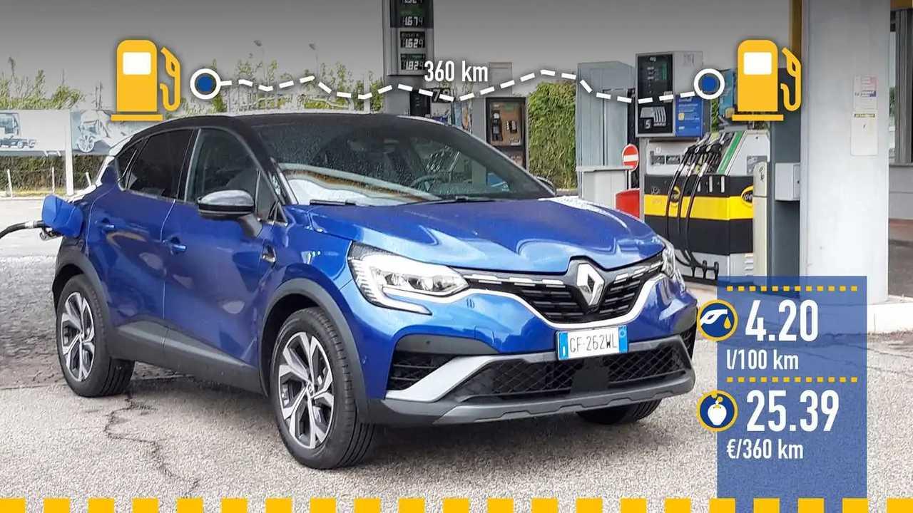 Renault Captur E-Tech full hybrid, la prova consumi
