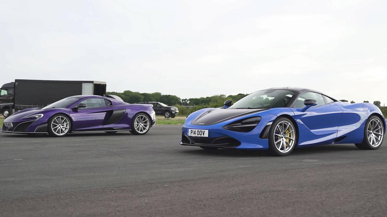 McLaren 675LT Versus 720S Race