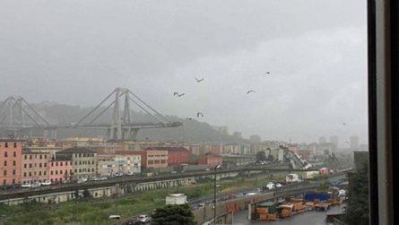 Une partie d'un viaduc autoroutier s'est effondrée à Gênes