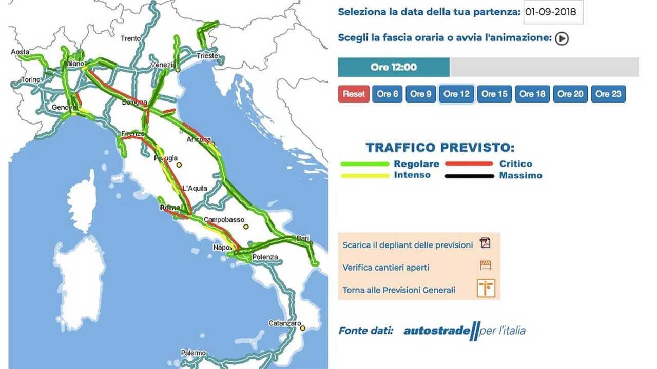 traffico 1 e 2 settembre