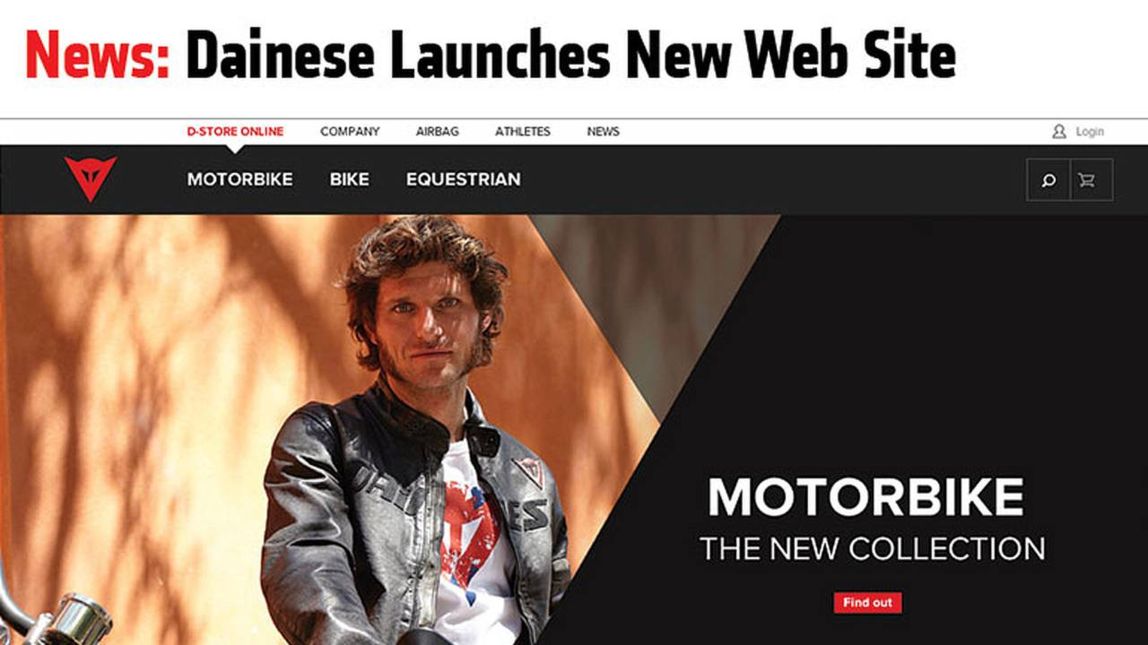 News: Dainese Launches New Website