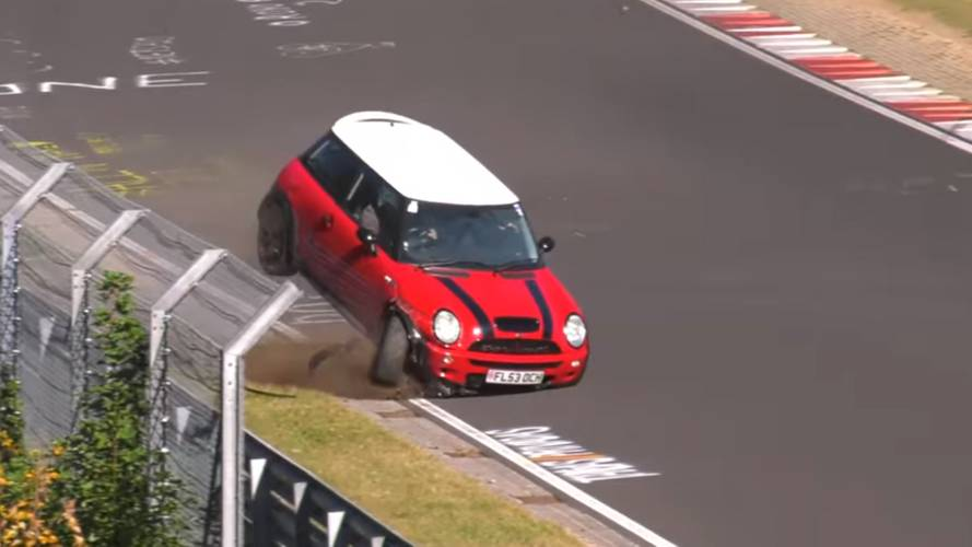 This violent Mini Cooper crash makes our head hurt
