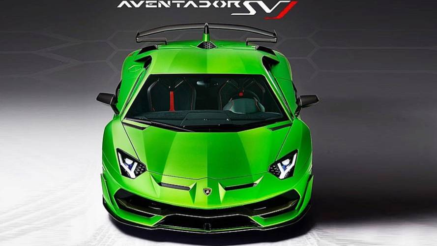 Lamborghini Aventador SVJ first official image revealed