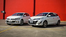 Comparativo Toyota Yaris x VW Polo