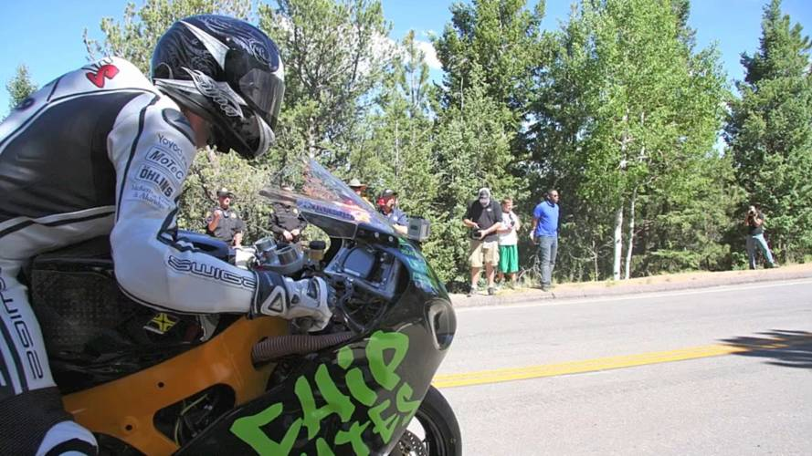 On board as Chip Yates sets Pikes Peak record