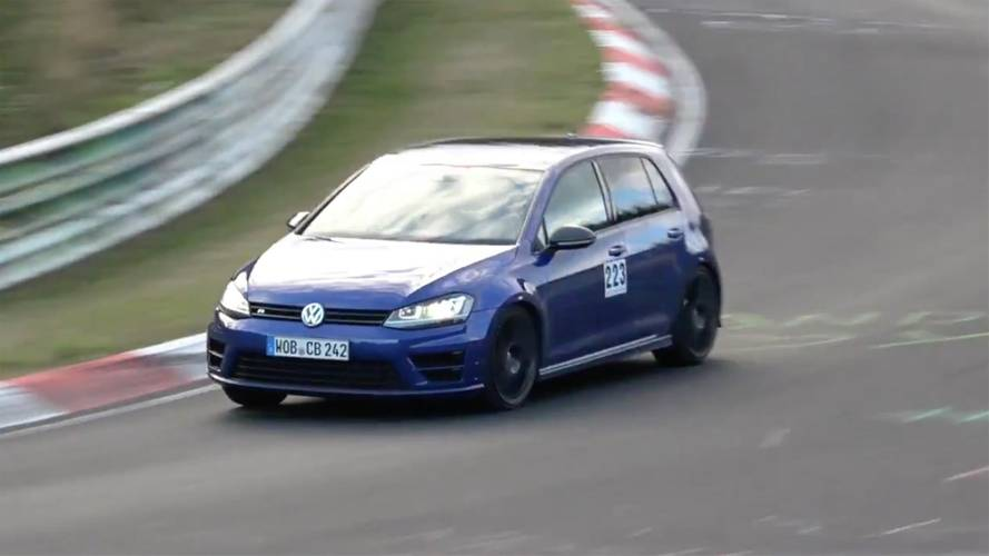 VW Golf R420 prototype spied testing under weird circumstances