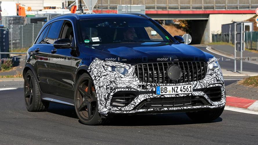 2019 Mercedes-AMG GLC 63 facelift spied for first time