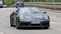 Porsche 911 Turbo Cabriolet en photos espion