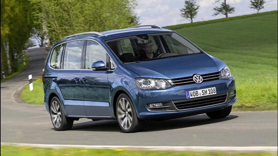 Nuova Volkswagen Sharan, tanto spazio e pochi fronzoli