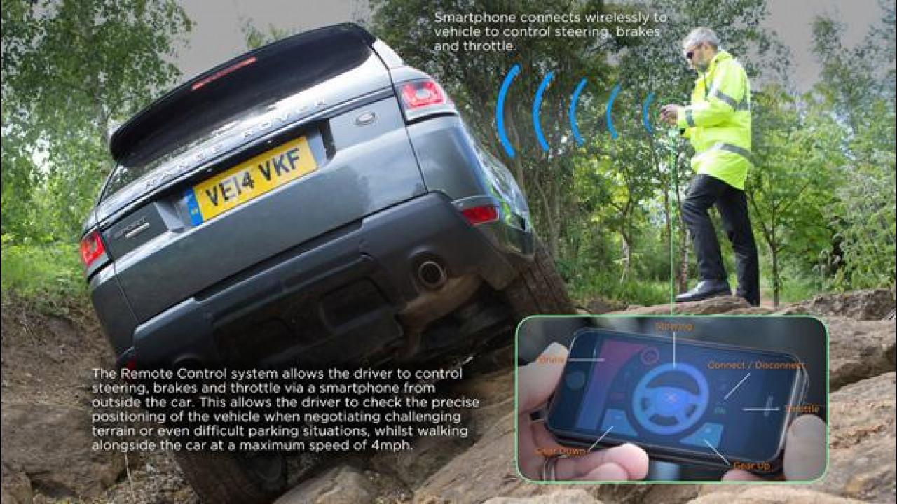[Copertina] - Ora la Range Rover Sport si guida... con lo smartphone