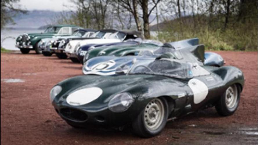 Jaguar, le auto della Mille Miglia