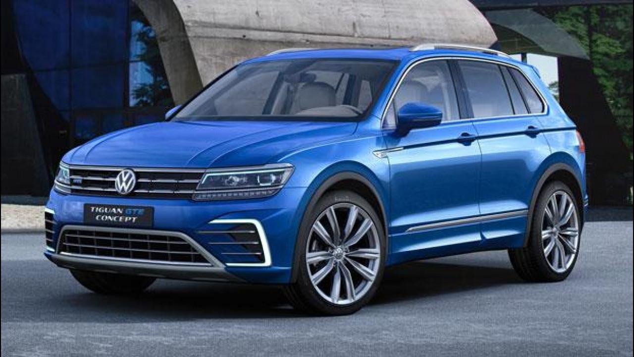[Copertina] - Salone di Francoforte, Volkswagen Tiguan GTE: ibrida plug-in