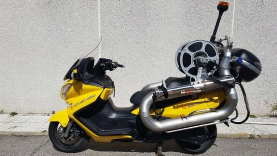 Suzuki Burgman 650, lo scooter antincendio