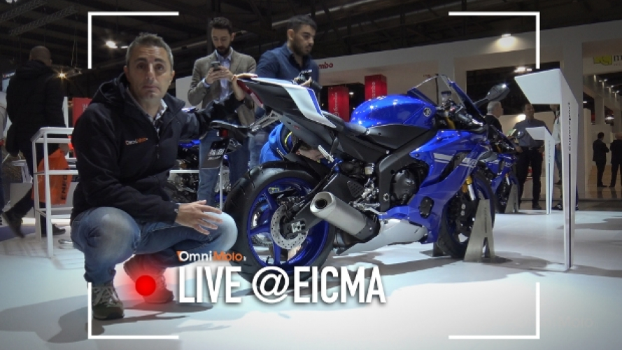 Yamaha YZF-R6 2017 a EICMA 2016 [VIDEO]