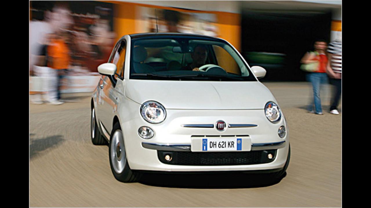 Platz 1 Kleinstwagen: Fiat 500