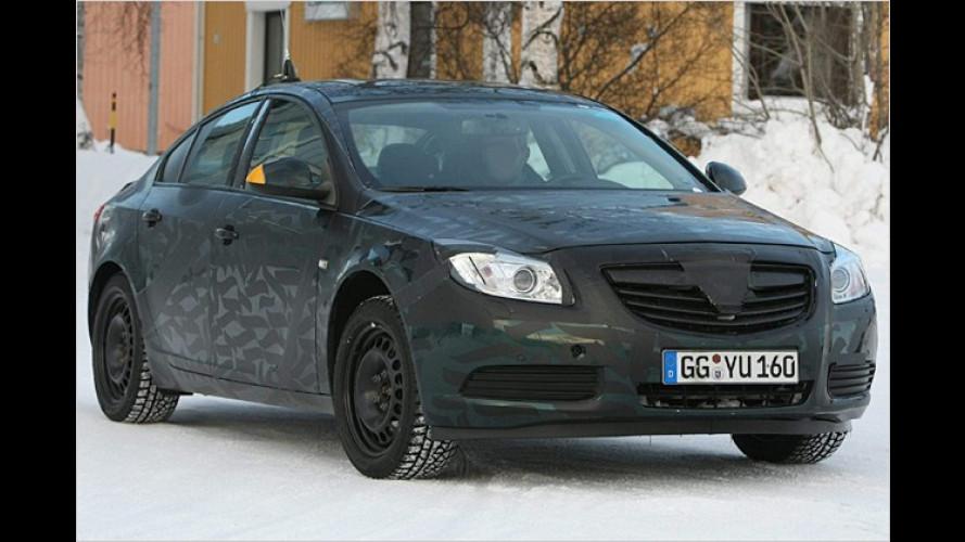 Zeigt schon viel: Der Opel Insignia im Schnee