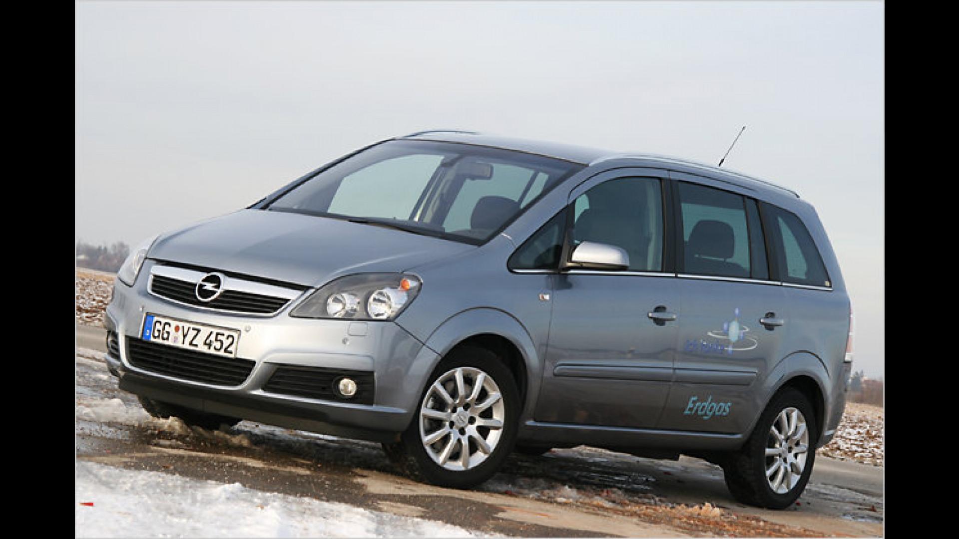 Opel Zafira 16 Cng Ecoflex Einmal Ordentlich Gas Geben