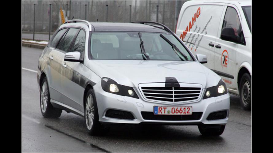 Erwischt: Das T-Modell der neuen Mercedes E-Klasse
