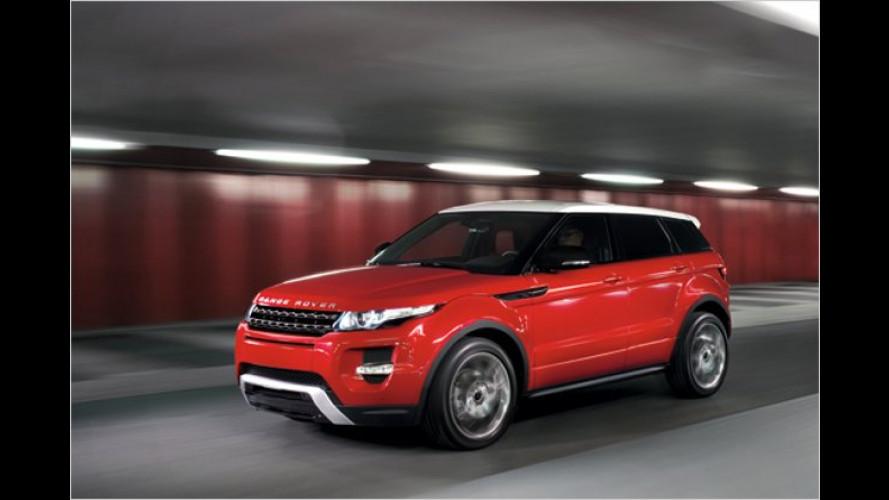 Mit höherem Dach: Range Rover Evoque als Fünftürer