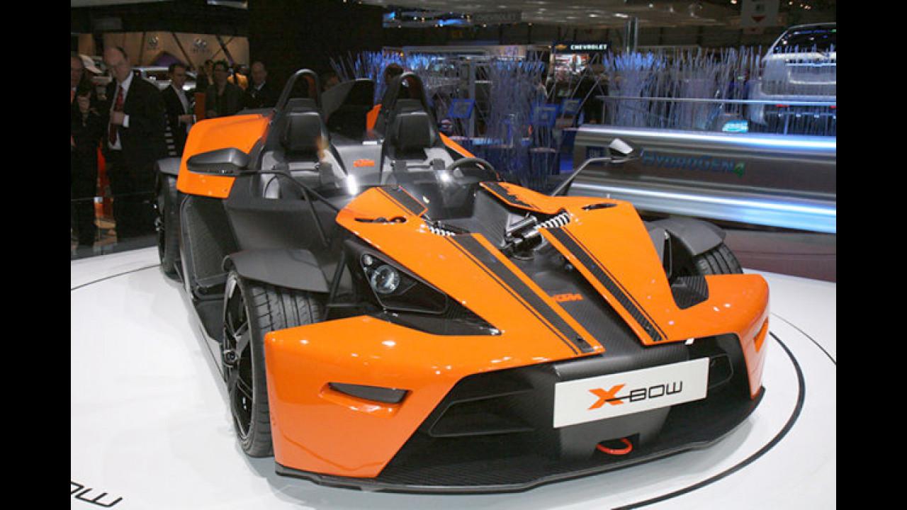 700 Kilogramm, 240 Turbo-PS: Die Fahrspaßmaschine X-Bow von KTM steht als Serienversion in Genf