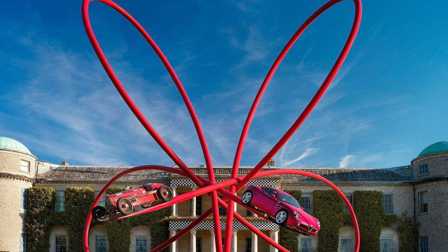 Alfa Romeo constructs sculpture for Goodwood FOS 2010